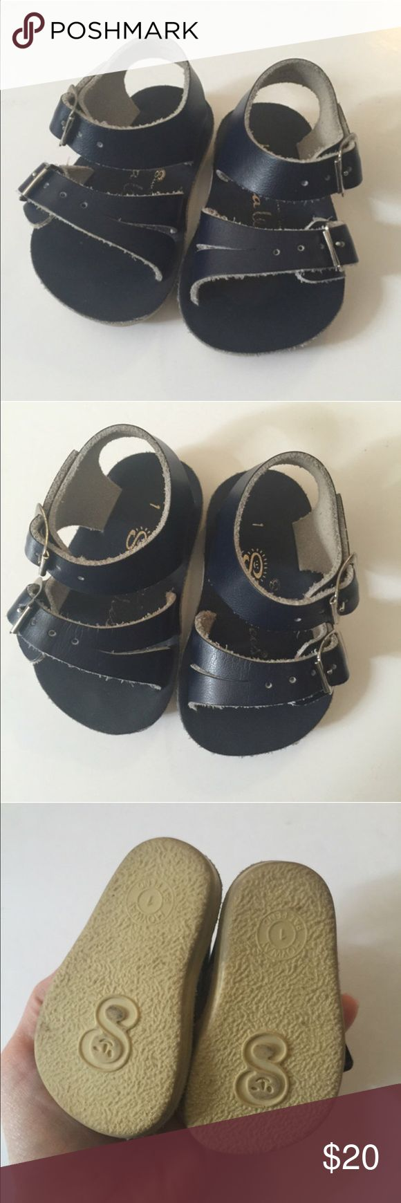 Salt water sandals Blue leather summer shoes excellent condition so adorable Salt Water Sandals by Hoy Shoes Sandals & Flip Flops