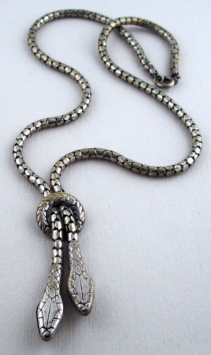 Victorian double snake necklace which was photographed and shown in the Victorian Antiques book by Thelma Schull