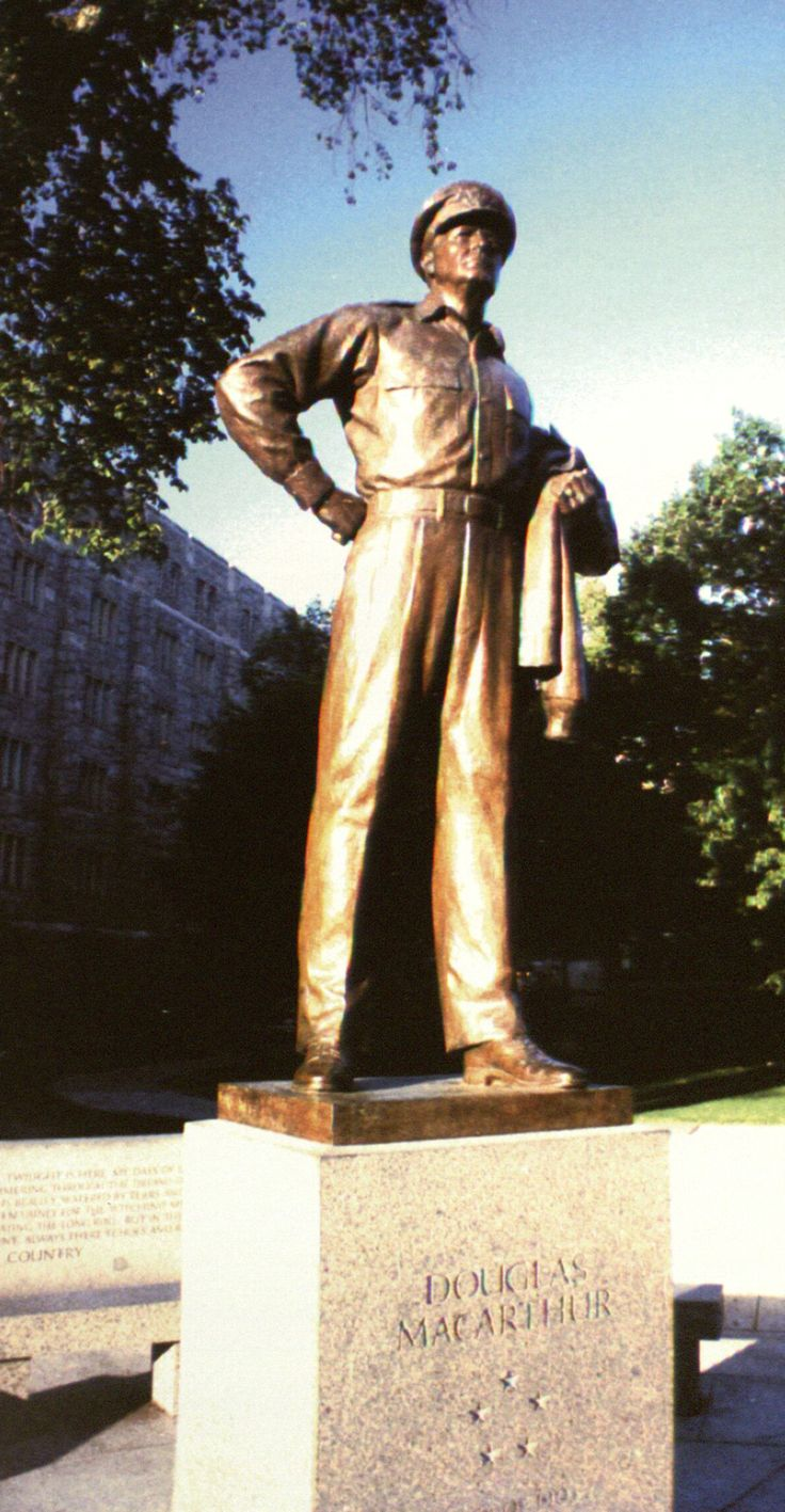 Douglas macarthur inside of west point military academy in new york
