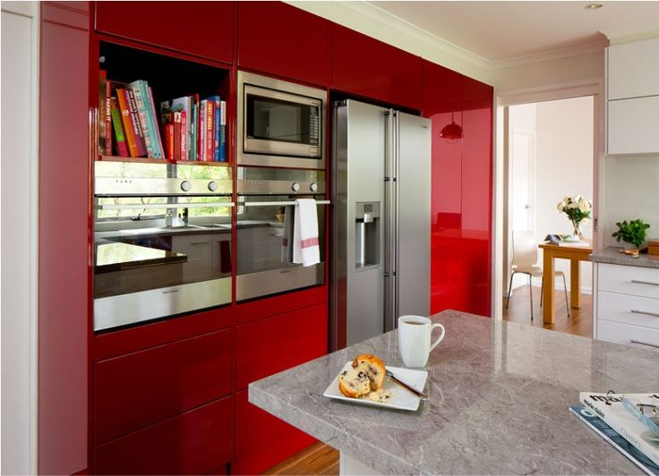 Kaboodle Kitchen   Conceal It With Colour, Available At Bunnings  #boldcolour #redkitchen # Part 42