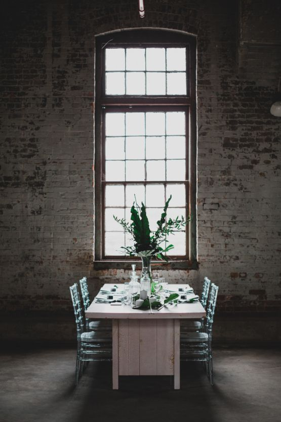 13 best wedding centerpieces decor images on pinterest diy modern moody warehouse wedding inspiration junglespirit Images