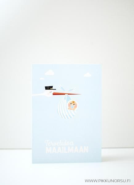 Suloiset pastellinsävyiset kortit pienelle tulokkaalle esimerkiksi ristiäisiin tai nimiäisiin. Oma kortti myös kaksosille.
