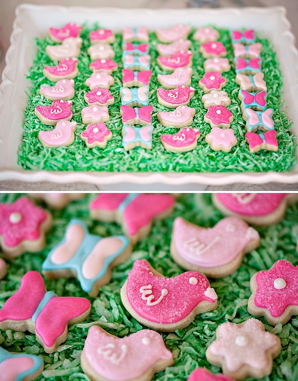 Sweet & Lovely Flower Garden Birthday Party // Hostess with the Mostess®...we need these cookie cutters, they match the birds in Kelly's bedding