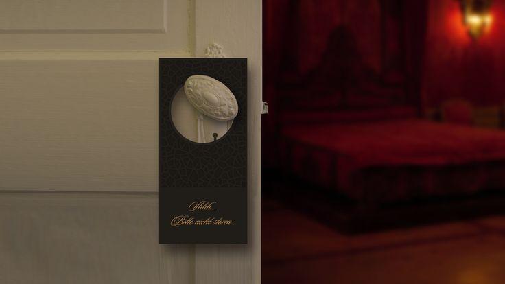 Hotel Orient- Infokarte- Türhänger