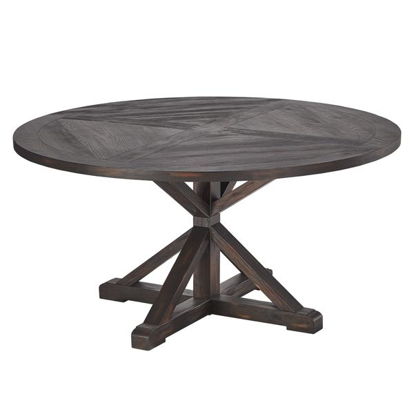 Shop Benchwright Rustic X Base 48 Inch Round Dining Table: Best 25+ Rustic Round Dining Table Ideas On Pinterest