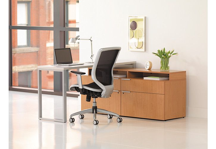 Voi Compact L-Workstation VS6060L2B | HON Office Furniture