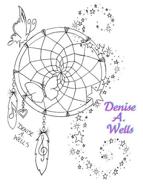 """Star Dream"" Tattoo Design  A unique dreamcatcher design including musical notes, heart and feather charms, stars and stardust, and butterflies. More of my work can be seen if you Google my name and select Images.    I have been designing tattoos for ov http://soloha.vn/tham-trai-san-khach-san/tham-trai-san-khach-san-sa-ma-422.html"