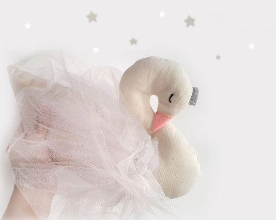 Swan soft decor beautiful white swan soft sculpture von missJoyka