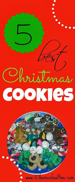 Christmas Cookie Recipes - Here are 5 absolutely amazing, family favorite Christmas Cookie Recipes!