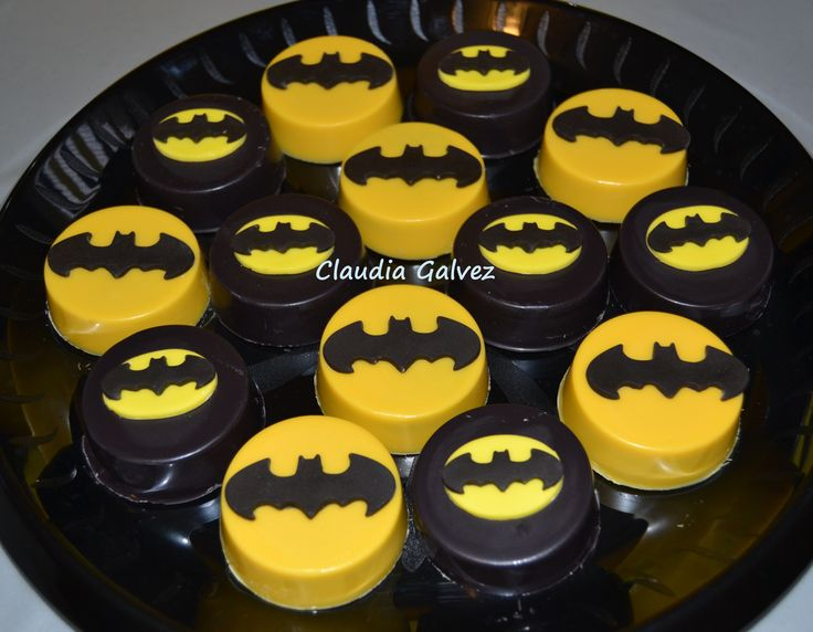 Batman chocolate covered Oreos