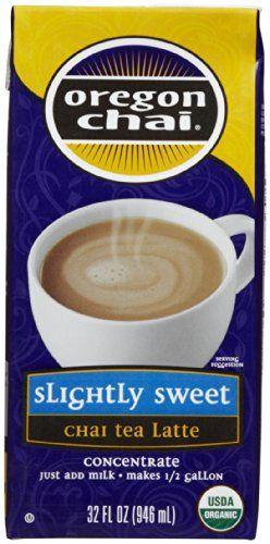 Oregon Chai Chai Tea Latte Concentrate, Slight Sweet, 32 oz - http://teacoffeestore.com/oregon-chai-chai-tea-latte-concentrate-slight-sweet-32-oz/