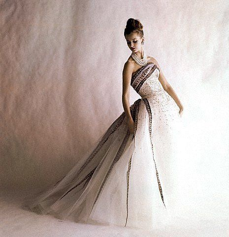 Vogue - June 1960 - Balmain Ball Gown