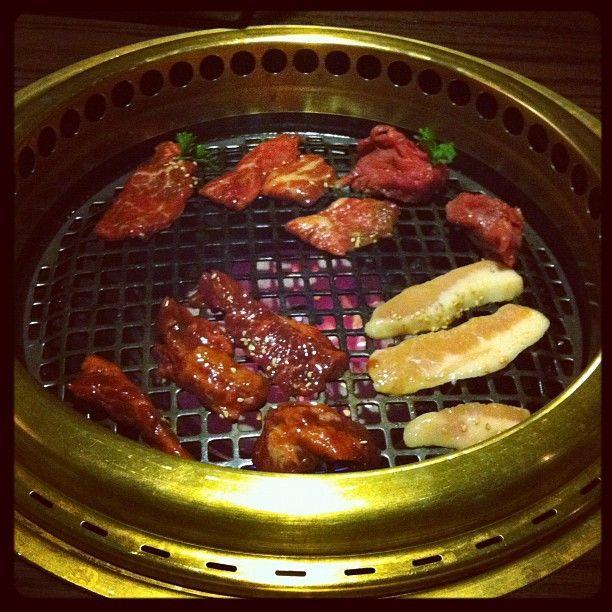 Filet mignon, Kalbi short ribs & Harami miso skirt steak @ Gyu-Kaku Japanese BBQ