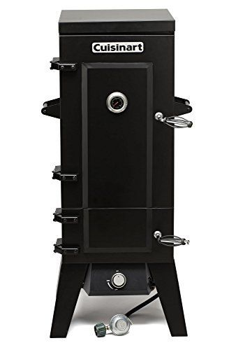 "The Cuisinart Vertical 36"" propane smoker provides ample smoking space with its 4 stainless steel racks & 784 square"" of cooking surface. Turning the valve on a propane tank & twisting the control knob is all it takes to start this smoker. The tightly sealed doors will help... more details available at https://www.kitchen-dining.com/blog/grills-outdoor-cooking/outdoor-fryers-smokers/product-review-for-cuisinart-cos-244-vertical-36-propane-smoker-black/"