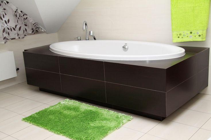Měkká zelená koupelnová předložka