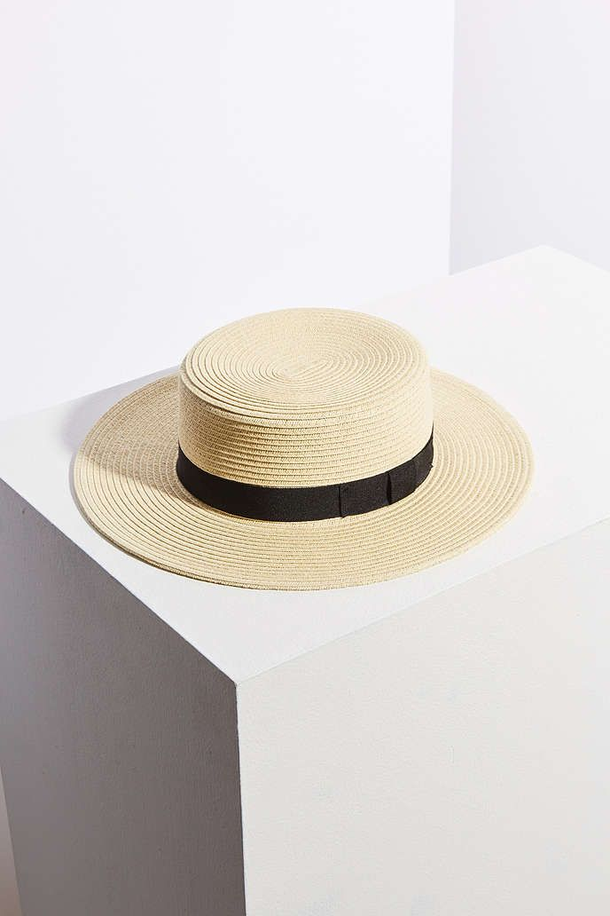 Madeline Straw Boater Hat - Urban Outfitters