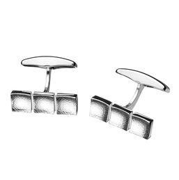 "Ritva Liisa Pohjalainen - ""Will"" silver cufflinks. #Finland | NordicJewel.com"
