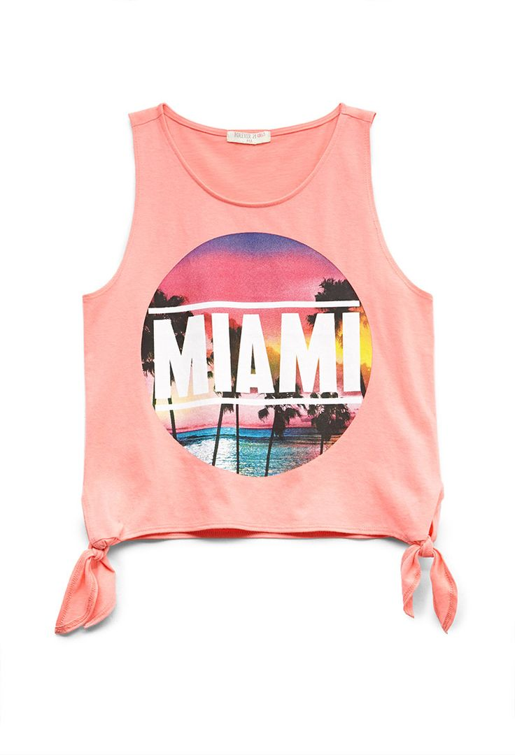 Miami Beach Tank (Kids) | FOREVER21 #F21Girls #Juniors #GraphicTee
