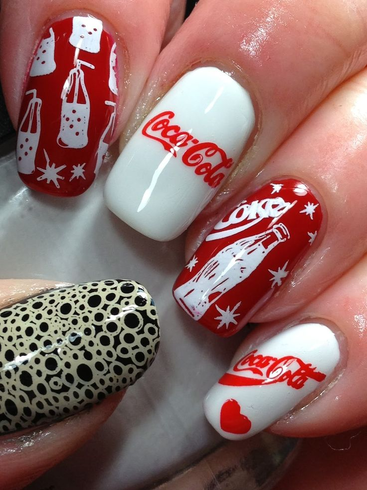 33 best coca cola nails images on pinterest hairstyles beauty canadian nail fanatic digit al dozen does brands day 3 prinsesfo Gallery
