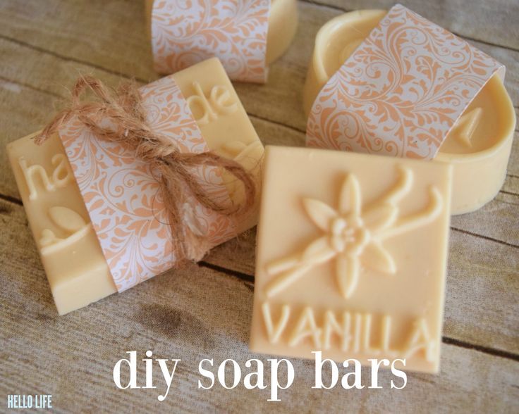 "Nothing says ""I appreciate you"" more than a handmade gift. Taking time out of your busy life to dedicate to making something special for someone you care about shows that they are worth giving of your most precious resource, your time!  DIY Soap Bars by MichaelsMakers Hello Life on Line"