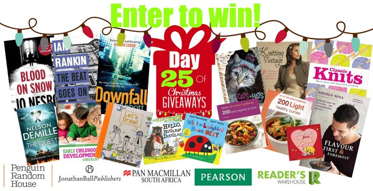 Our most coveted Hamper is filled to bursting with goodies from @PenguinBooksSA @JonathanBallPub Pan Macmillan, Pearson & Clip-a-Card. Get your entries in here: https://gleam.io/Cb5V1/day-25-of-christmas-giveaways