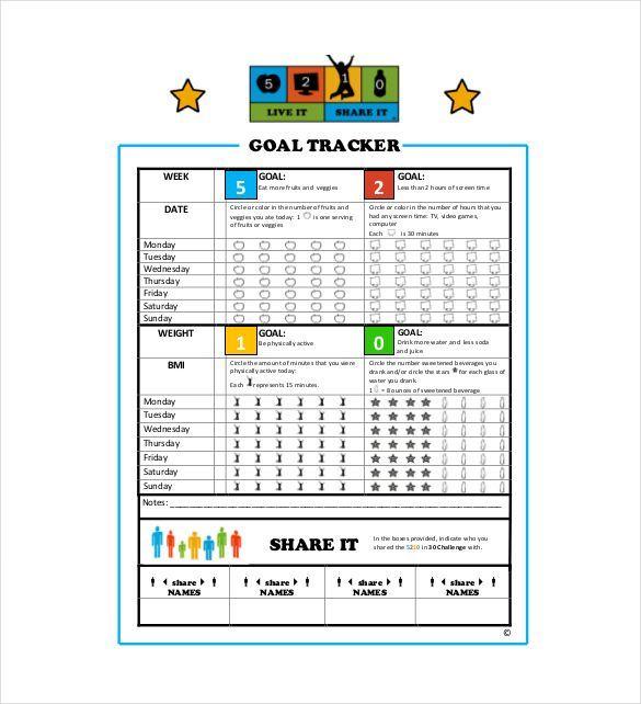 Goal Tracker Template - http://www.valery-novoselsky.org/goal-tracker-template-2638.html