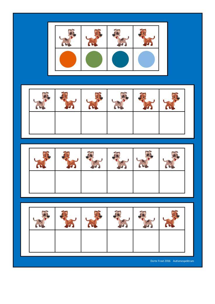 Board for the dog visual perception game. Find the belonging tiles on Autismespektrum on Pinterest. By Autismespektrum