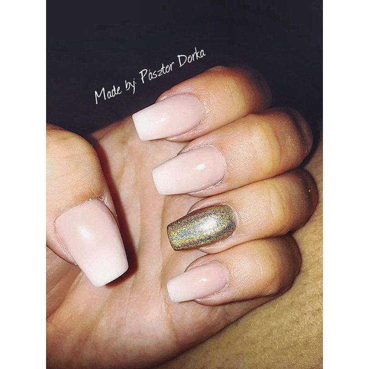 #babyboomer #nails #gold #prism #ilikeit