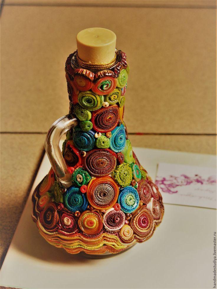 Купить Кувшинчик - комбинированный, сувенир, подарок, Сувенир ручной работы, подарок на любой случай, стекло