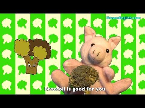 ▶ Healthy Kids Song: Fruits and Vegetables - YouTube For FOUR year olds. Have students sing along to the song while moving around. A lead topic would be the importance of eating fruits and vegetables. I.E. strong bones, grow big, and eye sight.