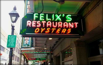Felix's Restaurant and Oyster Bar HOME - New Orleans, LA.. MUST try the oysters, and or crawfish, but they SPICY!