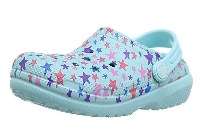 NEW Crocs Classic Printed Lined Clog Kids Kids ClogsSlippersgarden shoes