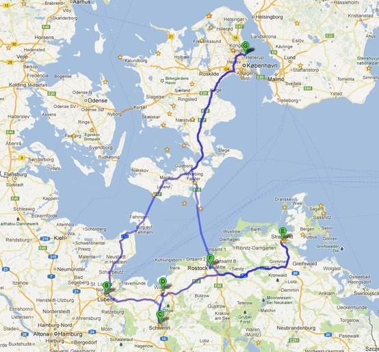 Nothern Germany: Charlottenlund - Lubeck -Schwerin - Wismar - Stralsund - Rostock - Charlottenlund