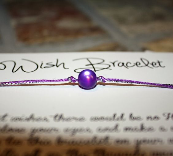 Easy Relay For Life Fundraiser - how to make wish bracelets!