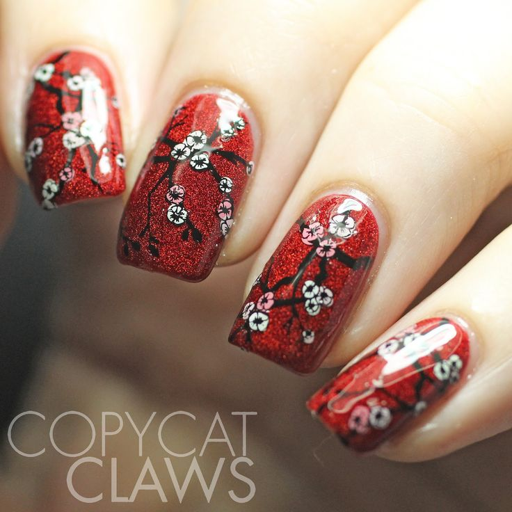 Copycat Claws: Sunday Stamping - Chinese New Year Nails