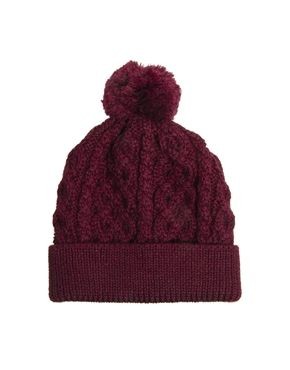 ASOS Bobble Beanie In 100% British Wool
