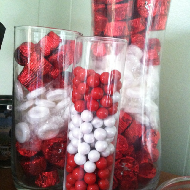 red white candies for the s'mores bar....