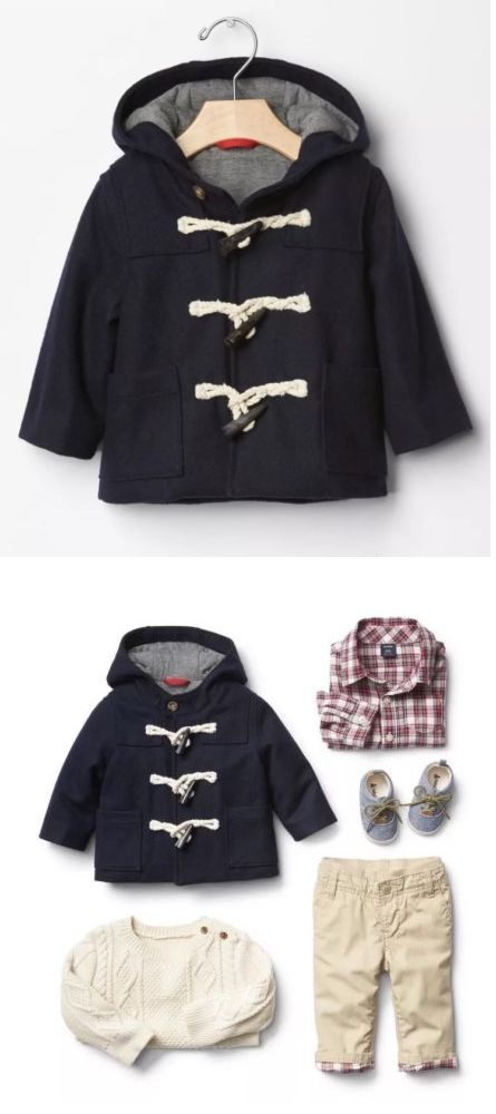 Baby Boys Clothing And Accessories: Baby Gap Toddler Boy Size 6-12 Month Navy Blue Toggle Wool Coat Jacket Parka Nwt -> BUY IT NOW ONLY: $32.99 on eBay!