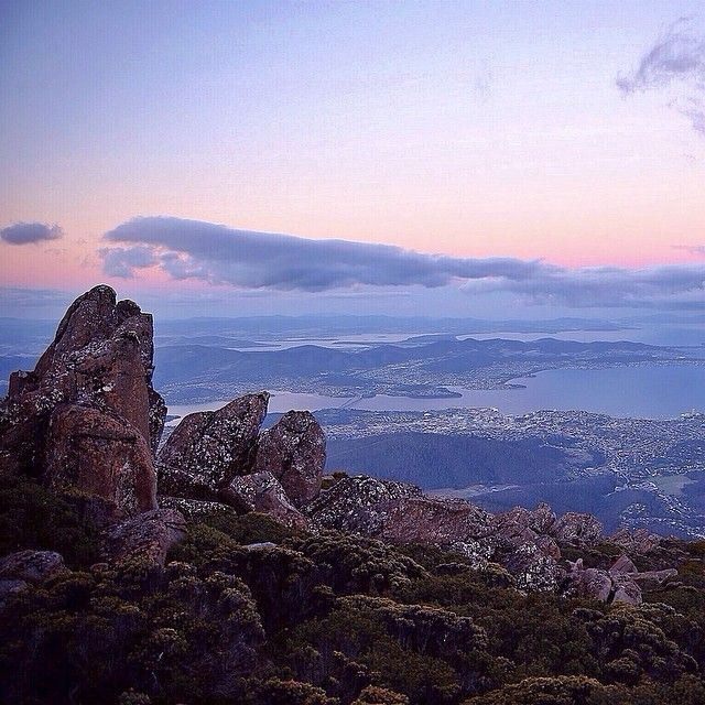 Mount Wellington over Hobart, Tasmania