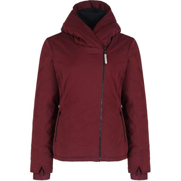 Bench Bonspeil jacket ($140) ❤ liked on Polyvore featuring outerwear, jackets, red, women, long sleeve jacket, red quilted jacket, red jacket, quilted jacket and bench jacket