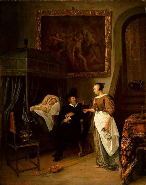 Steen, Doctor's Visit (Maritshuis) 1668ff
