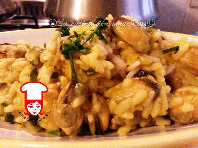 Risotto cozze e zucchine | La cucina di nonna Rita