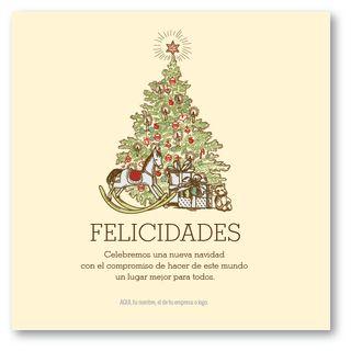 Caballo de Madera ::  tarjetas para navidad y fin de año