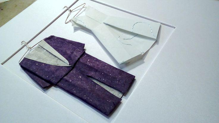 Wedding photo album. Origami decoration.