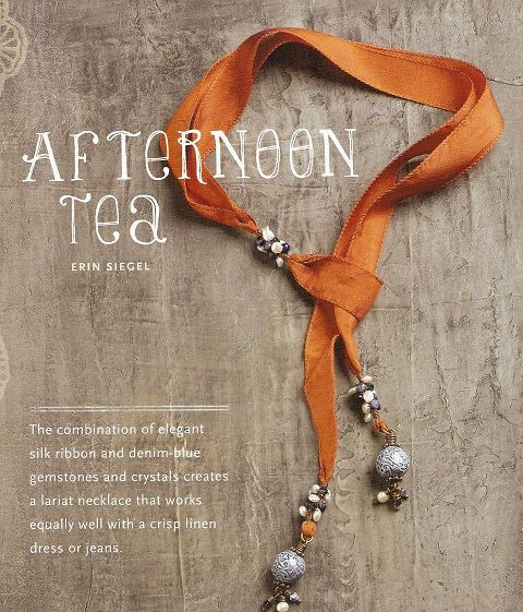 Bohemian Inspired Jewelry -  ribbon and bead necklace