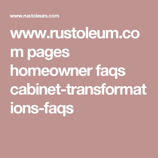 www.rustoleum.com pages homeowner faqs cabinet-transformations-faqs