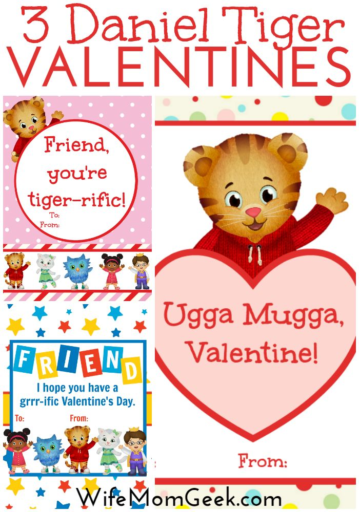 Does your child LOVE Daniel Tiger? Print off these free Daniel Tiger valentines to hand out at daycare or school on Valentine's Day!