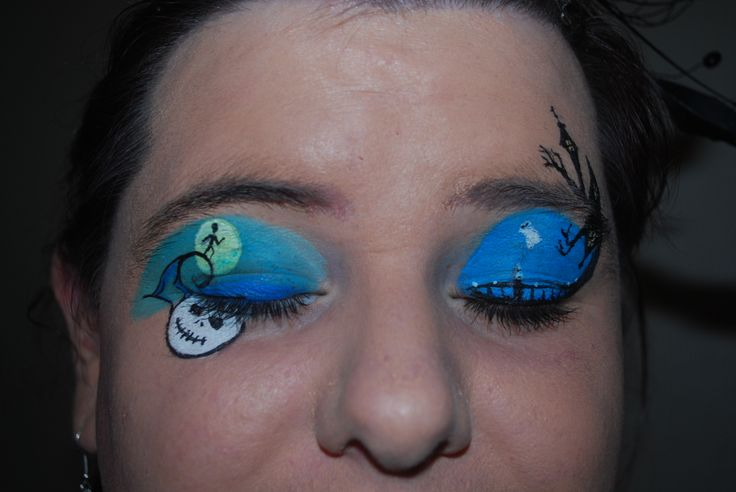 Nightmare before Christmas   Facepaint and Eye makeup   Pinterest