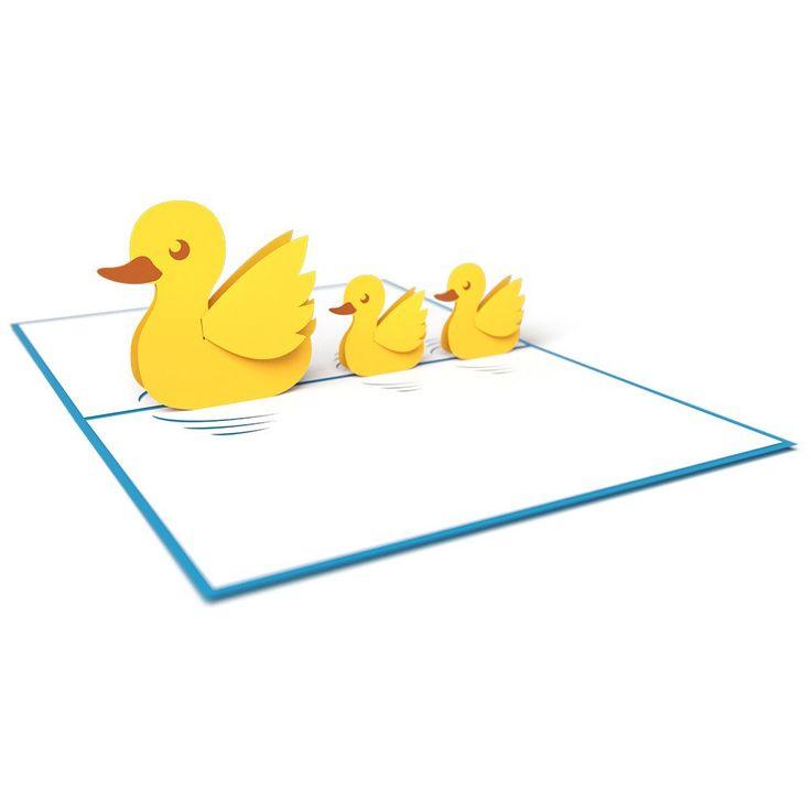 Ducklings pop up card - thumbnail