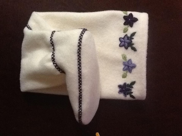 Inuit made women's embroidered duffle socks by Lucy Mingeriak